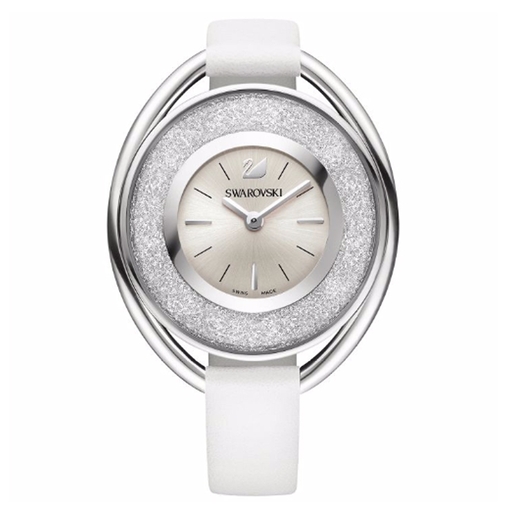 Swarovski Crystalline Oval White & Silver Watch | 5158548