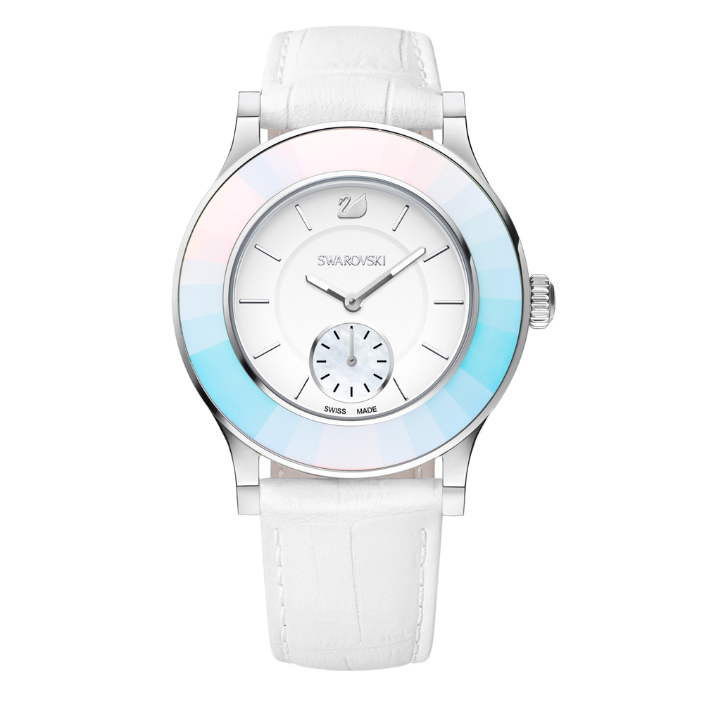 Swarovski Octea Classica White & Silver Watch | 5166545