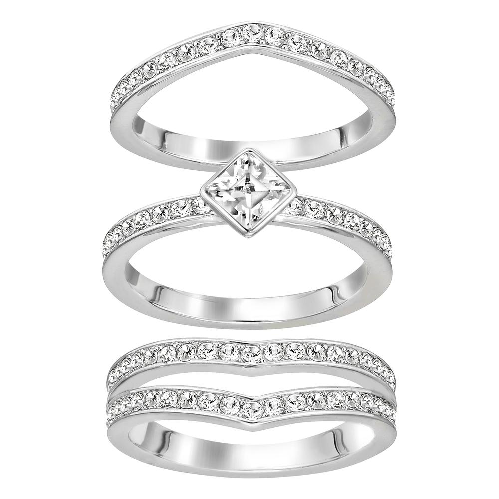 Swarovski Alpha Silver Rings, Size 55 | 5181463