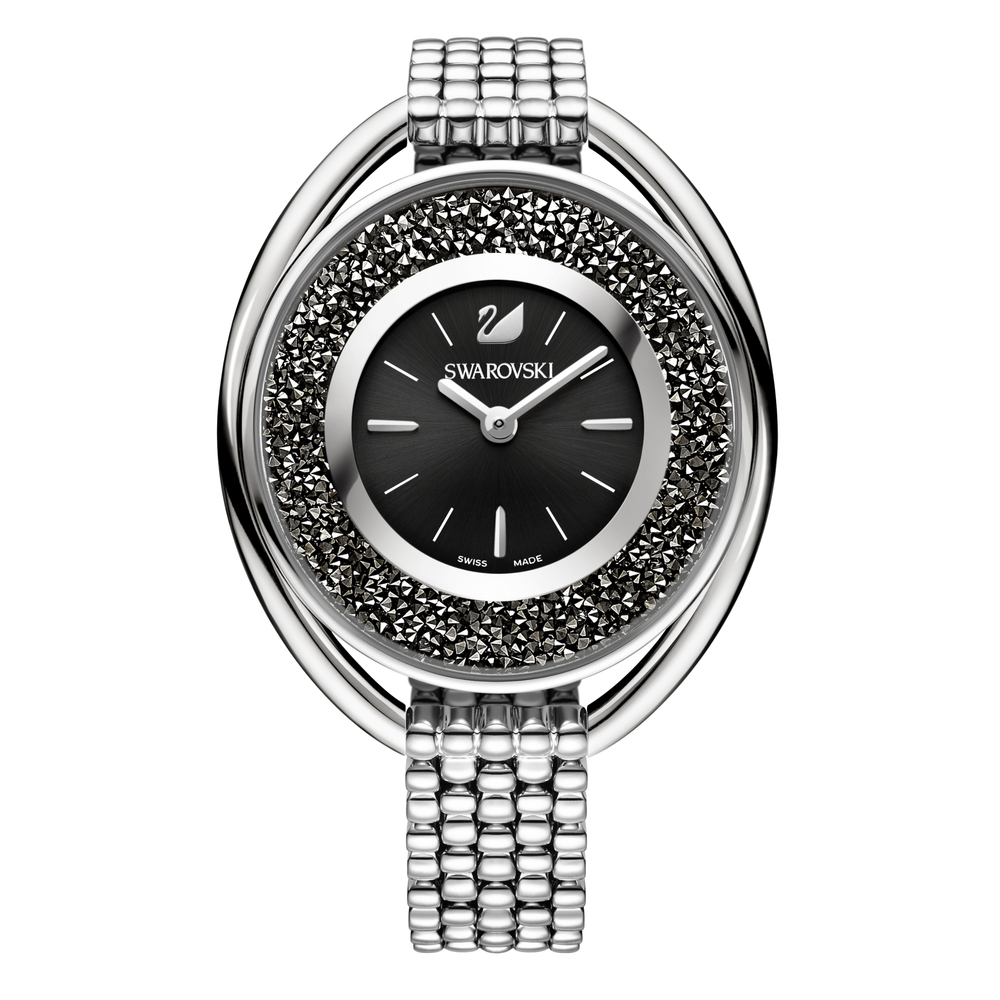 Swarovski Crystalline Oval Black & Silver Bracelet Watch | 5181664