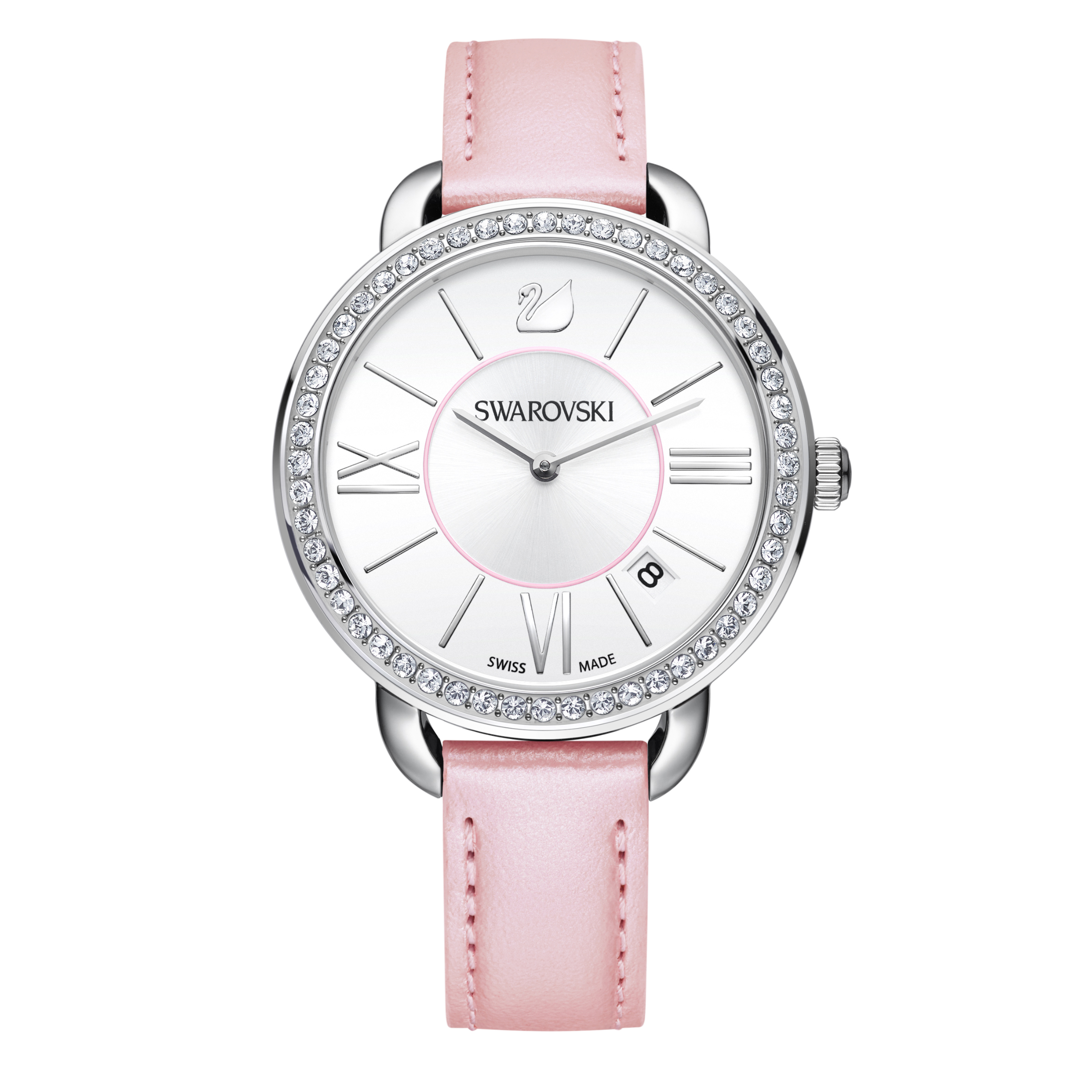 Swarovski Aila Day Rose Pink & Silver Watch | 5182189