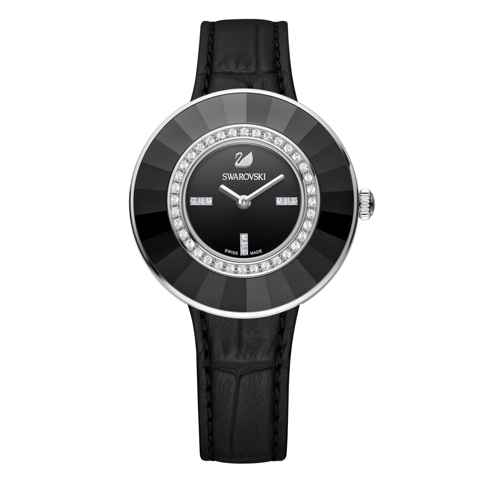 Swarovski Octea Dressy Silver & Black Watch | 5182252
