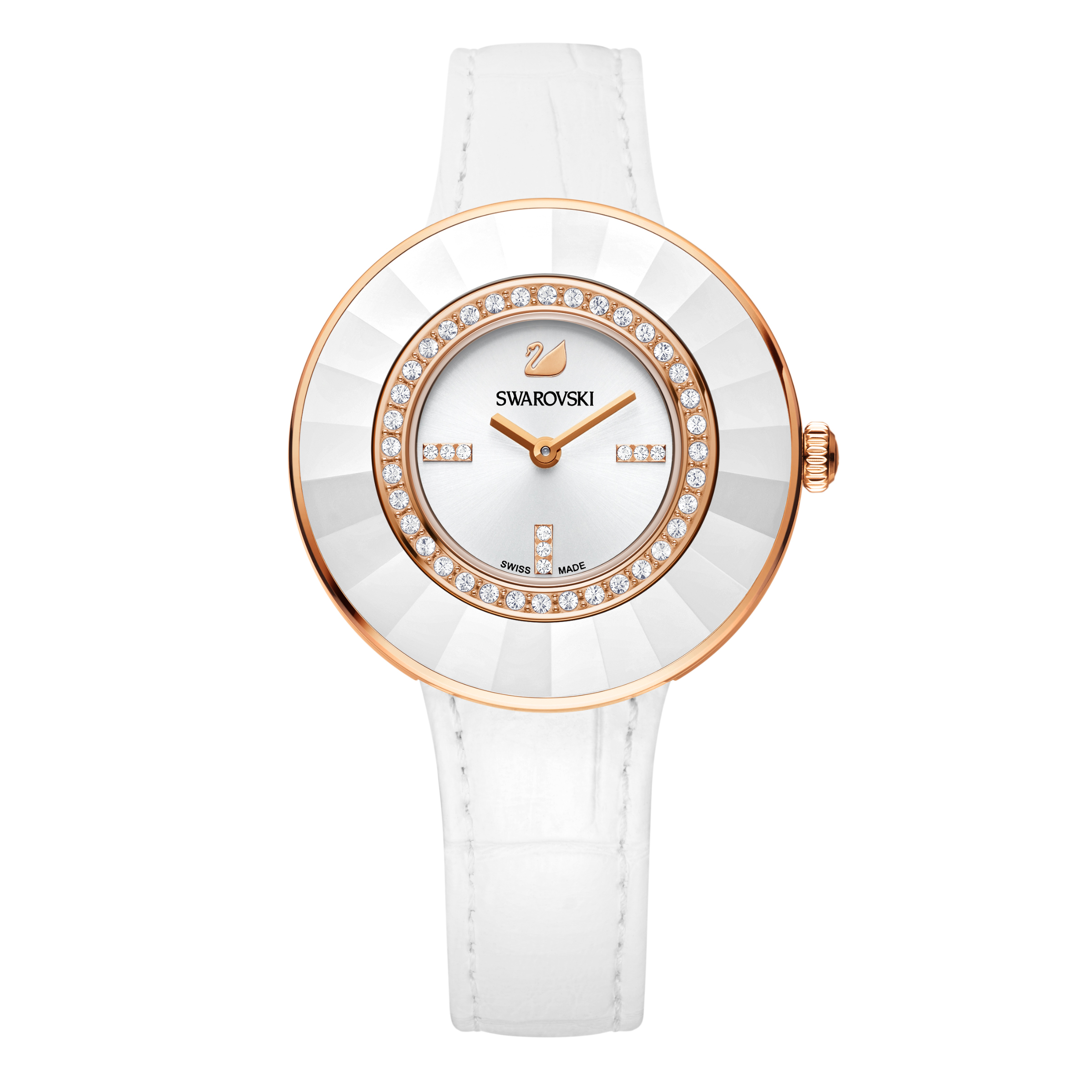Swarovski Octea Dressy White & Rose Gold Watch | 5182265