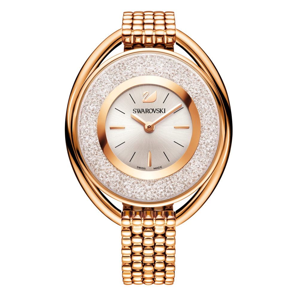 Swarovski Crystalline Oval Rose Gold Bracelet Watch | 5200341