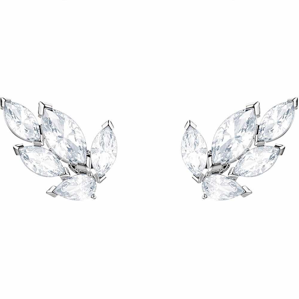 Image of            Swarovski Louison White Stud Pierced Earrings   5446025