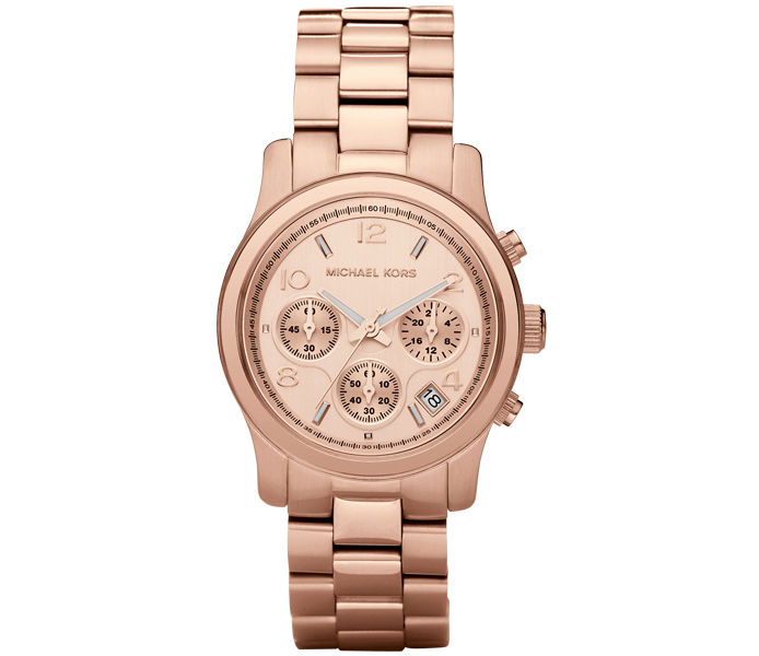 Michael Kors Runway Bracelet Chronograph Rose Gold Ladies' Watch | MK5128