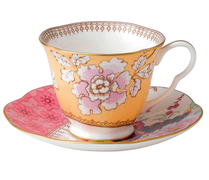 Wedgwood Butterfly Bloom Tea Cup &Saucer Yellow | 5C107800045