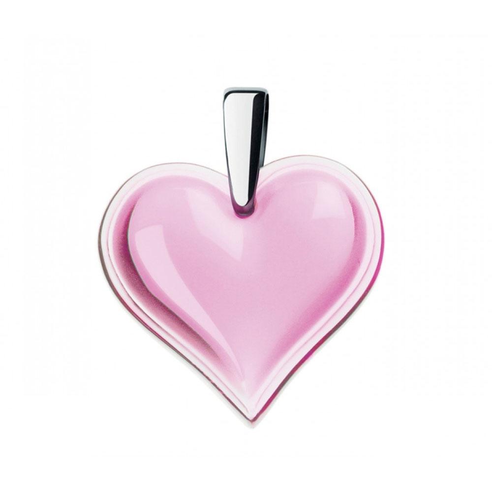 Lalique Amoureuse Beaucoup Pink Pendant