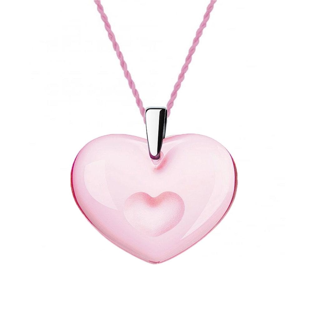 Lalique Amoureuse A La Folie Pink Pendant