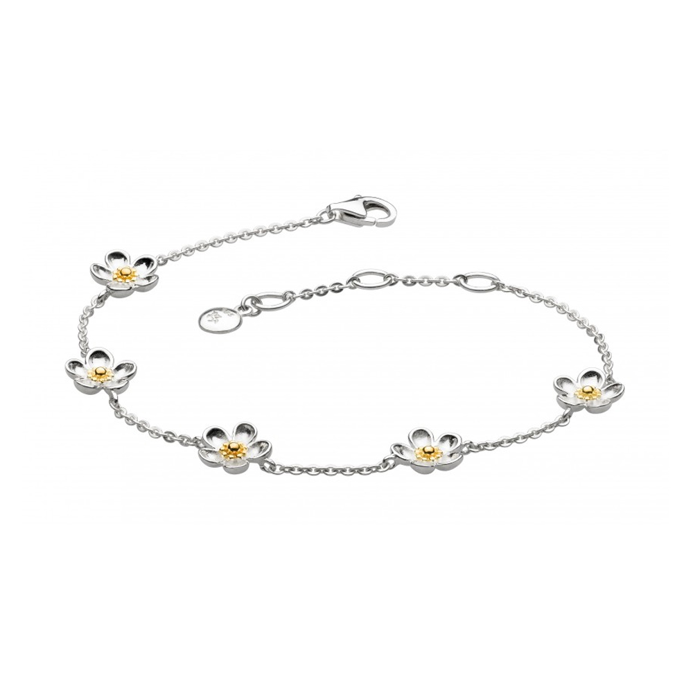 Kit Heath Blossom Wood Rose Chain Gold Plated Bracelet | 70307GD018