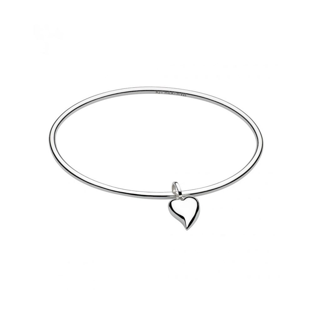 Kit Heath Desire Lustful Heart Silver Bangle | 70FTHP017