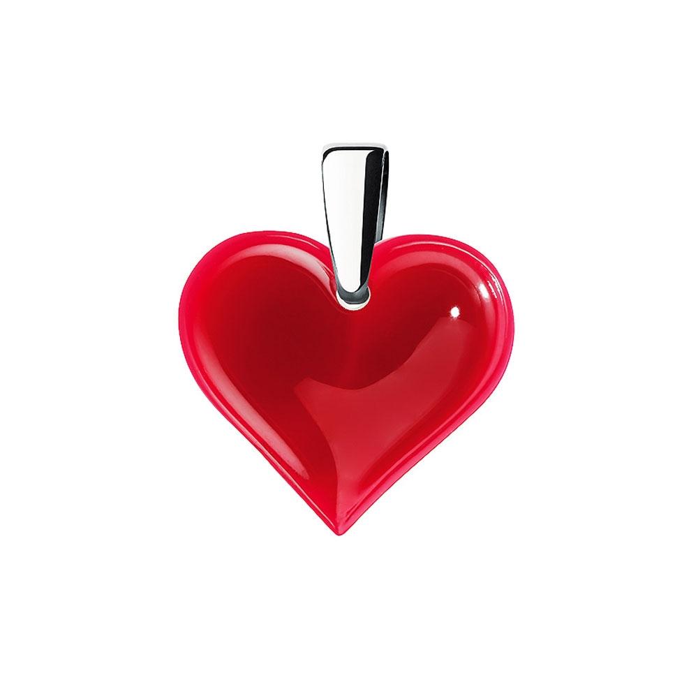 Lalique Amoureuse Beaucoup Red Pendant