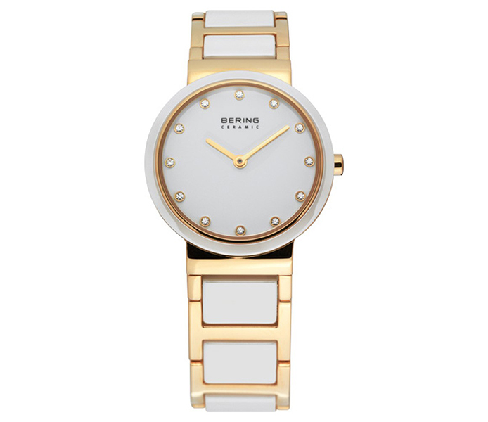 Bering Ladies' Ceramic Bezel Gold Shiny Watch | 10729-751
