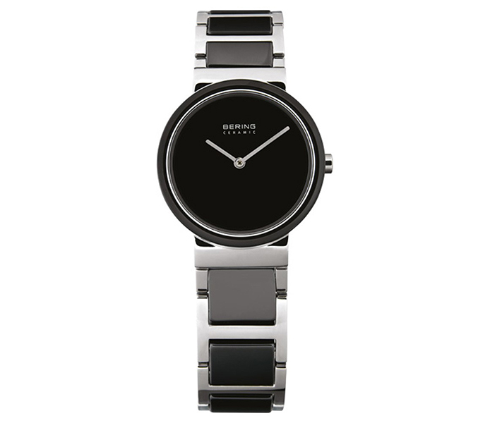 Bering Ladies' Ceramic Bezel Shiny Silver Watch | 10729-742