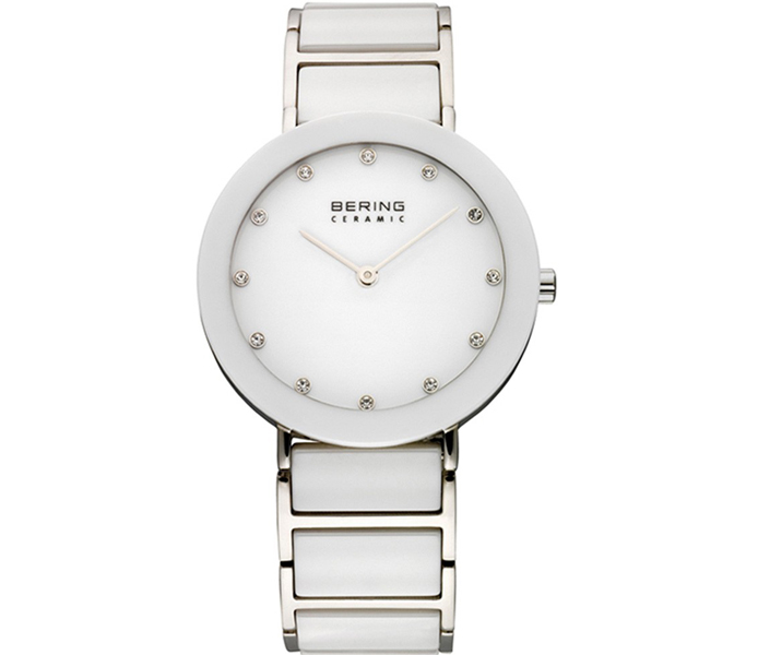 Bering Ladies Ceramic White & Silver Watch | 11435-754