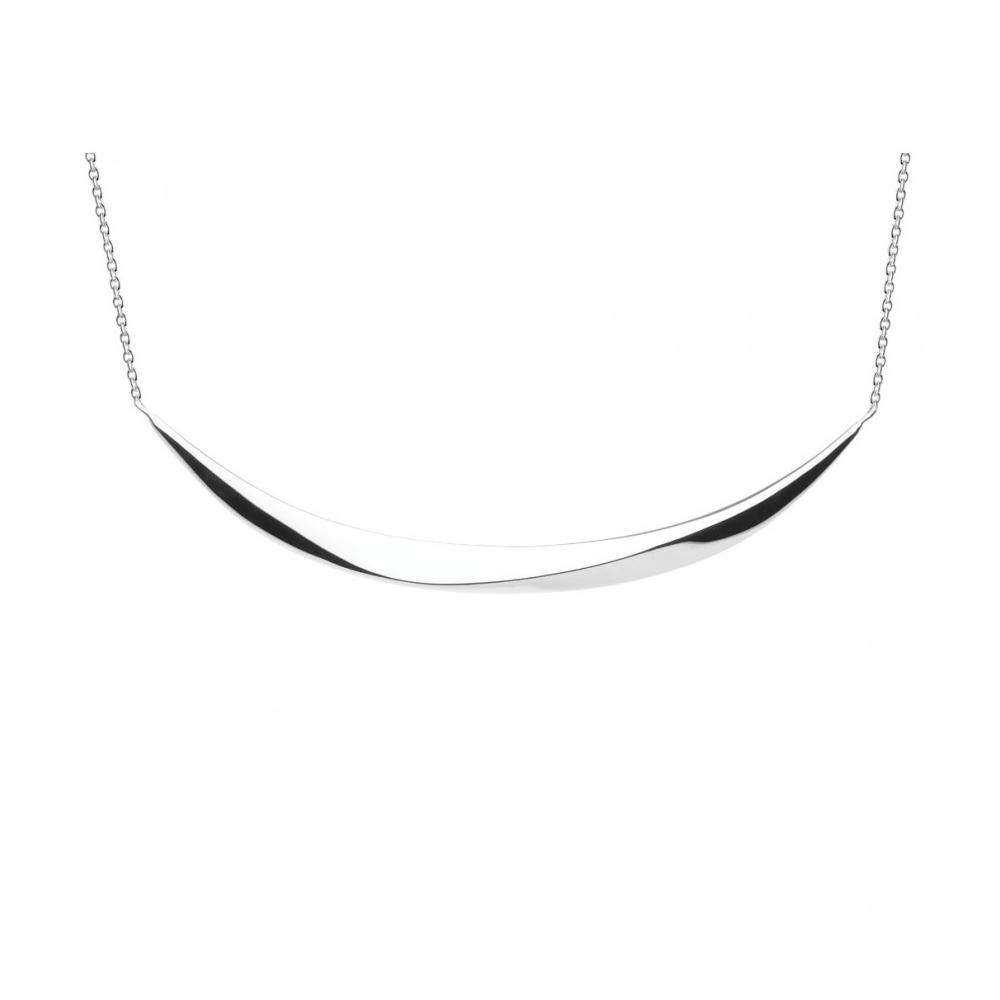 Kit Heath Bevel Curve Bar Silver 18 Necklace   9175HP018