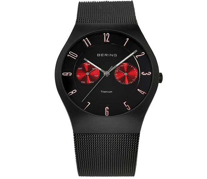 Bering Men's Titanium Case Black Brushed Watch | 11939-229