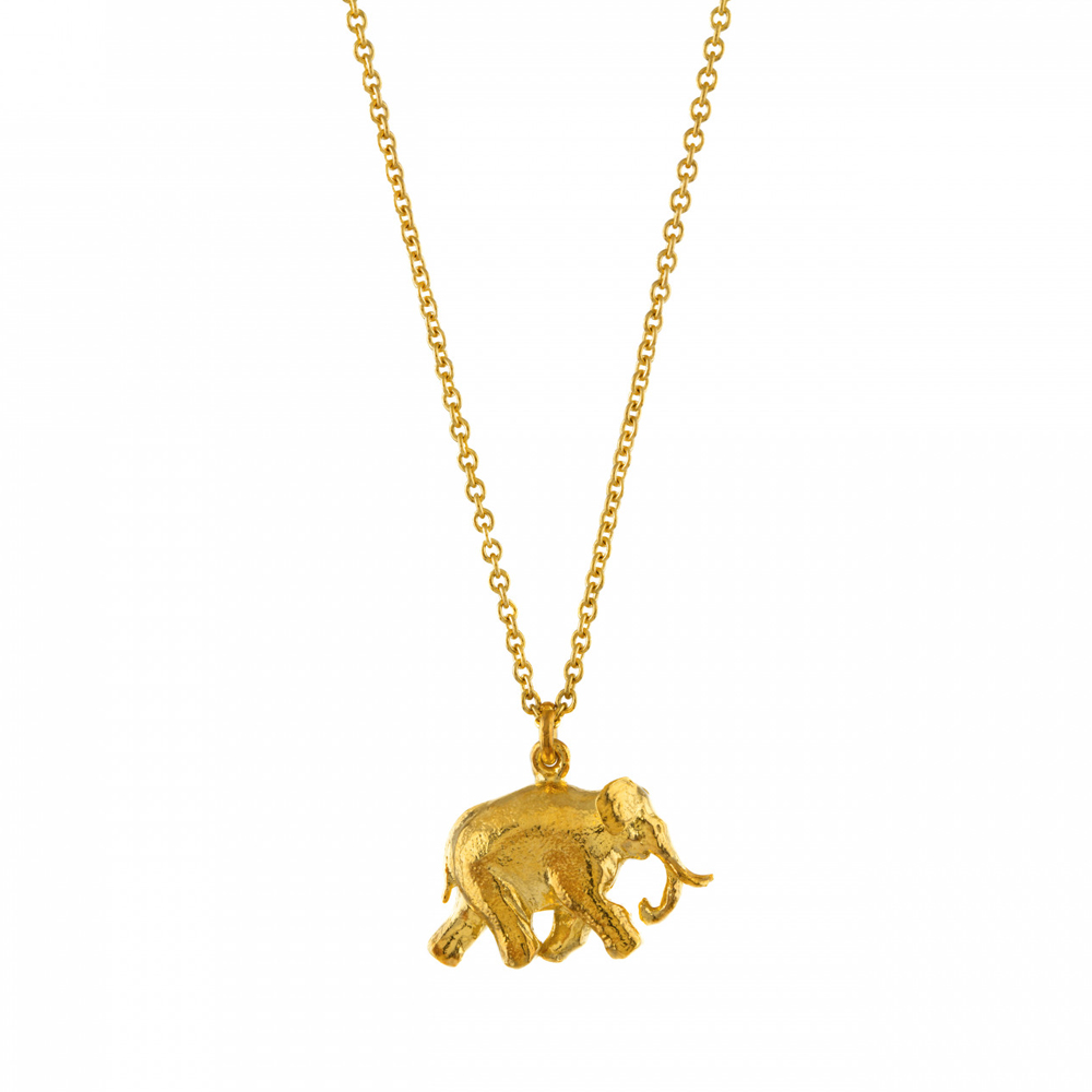 Alex Monroe Indian Gold Elephant Necklace | BVN4/GP
