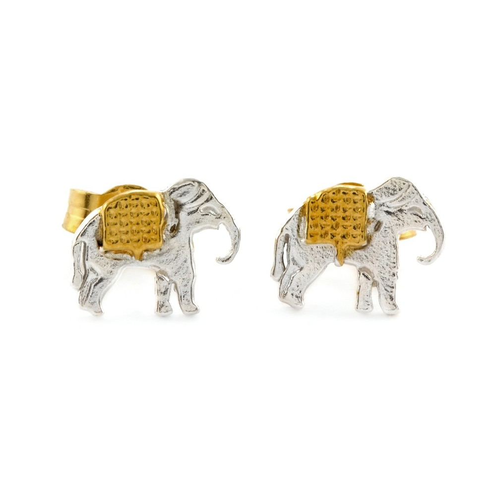 Alex Monroe Little Elephant Stud Earrings | AM2004E/MIX