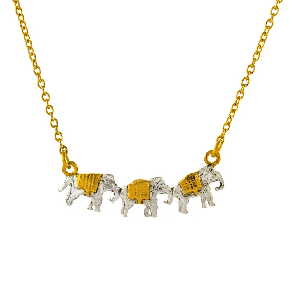 Alex Monroe Marching Elephants Necklace | AM2004N/MIX