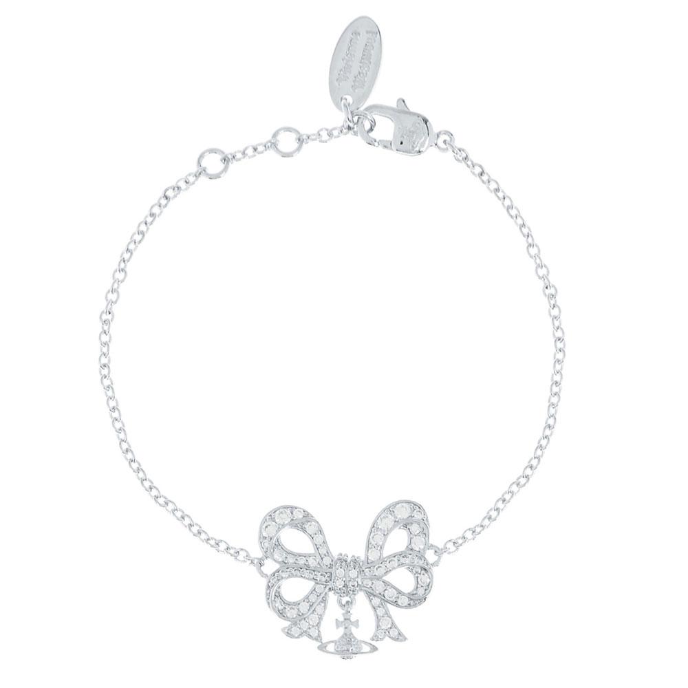 Vivienne Westwood Elinor Small Silver Bracelet, Rhodium Plated