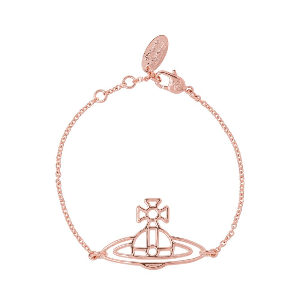 Vivienne Westwood Thin Lines Flat Orb Rose Gold Bracelet   BBL1564