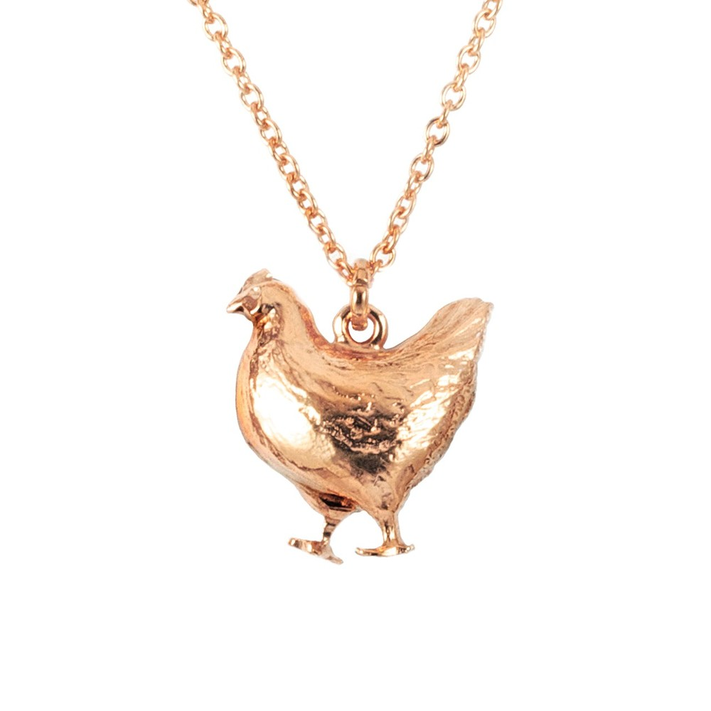 Alex Monroe Fat Hen Rose Gold Necklace | BBN10/RGP