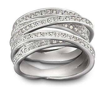 Swarovski Spiral Silver Ring, Size 55 | 1156305