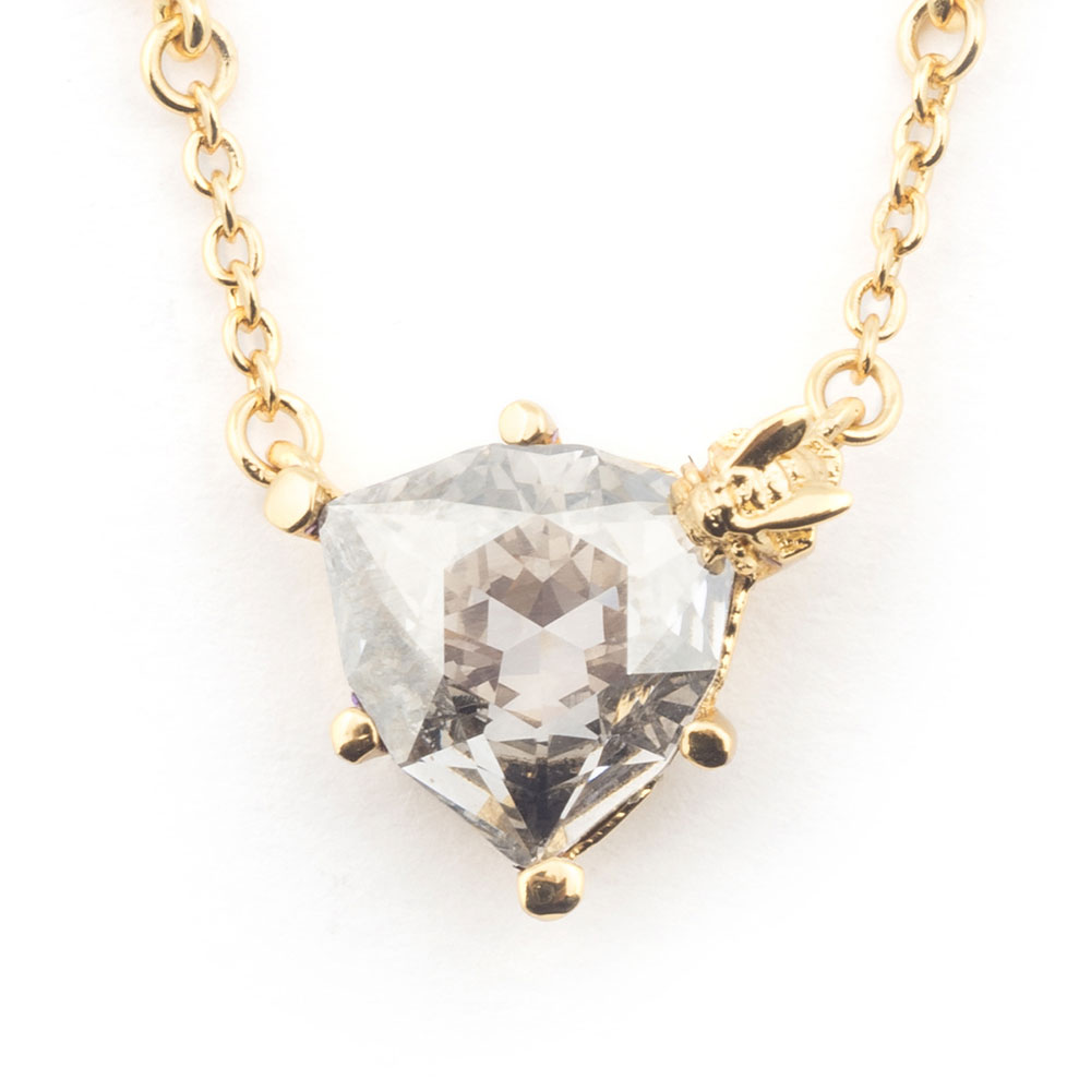 Bill Skinner Disco Bee Silver Crystal Pendant, Gold Plated