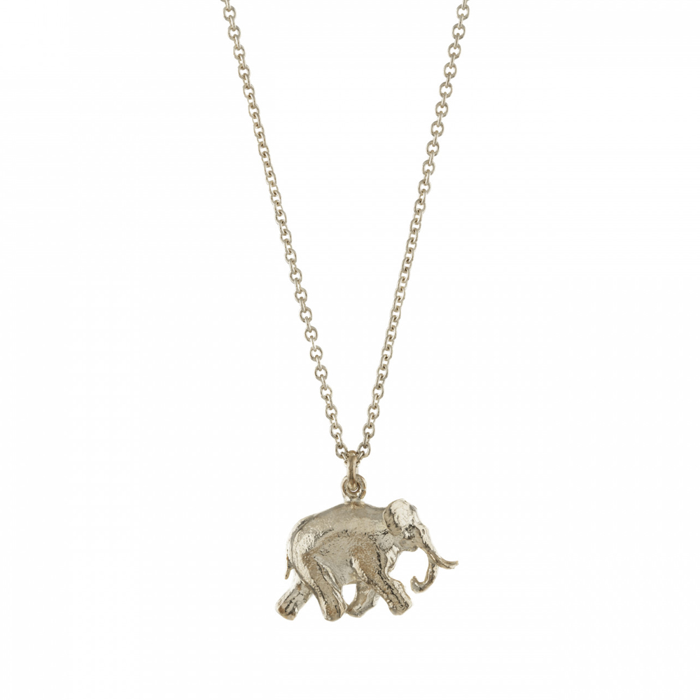 Alex Monroe Indian Silver Elephant Necklace | BVN4/S