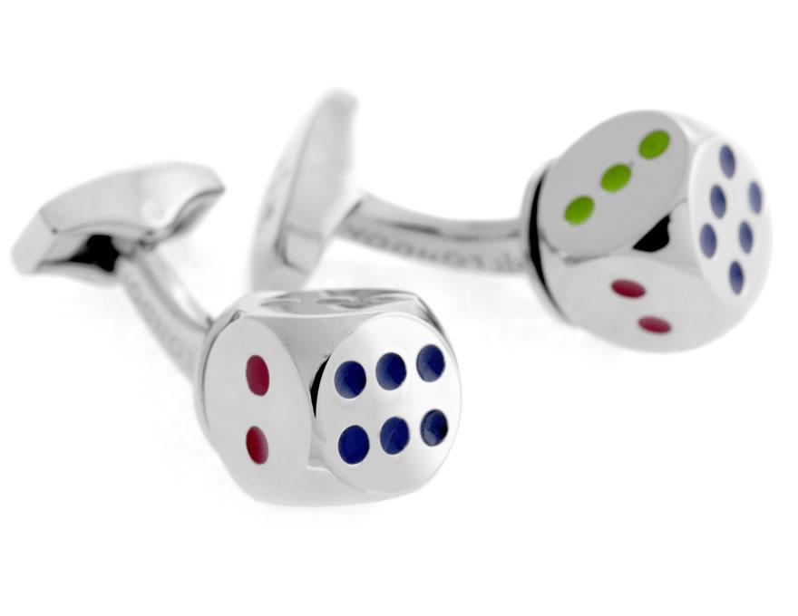 Tateossian Multicoloured Dice Cufflinks | CL0613