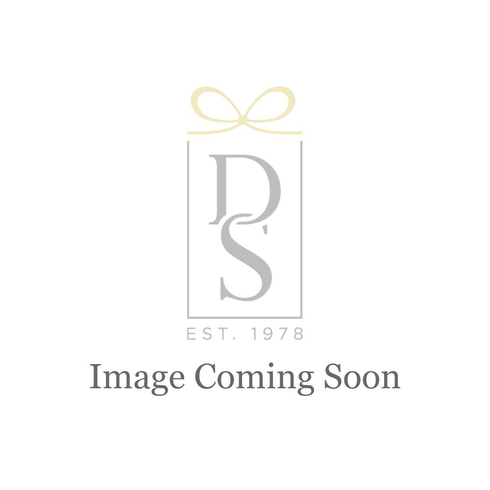 Swarovski Stone Hoop Pierced Earrings, White, Rhodium Plated