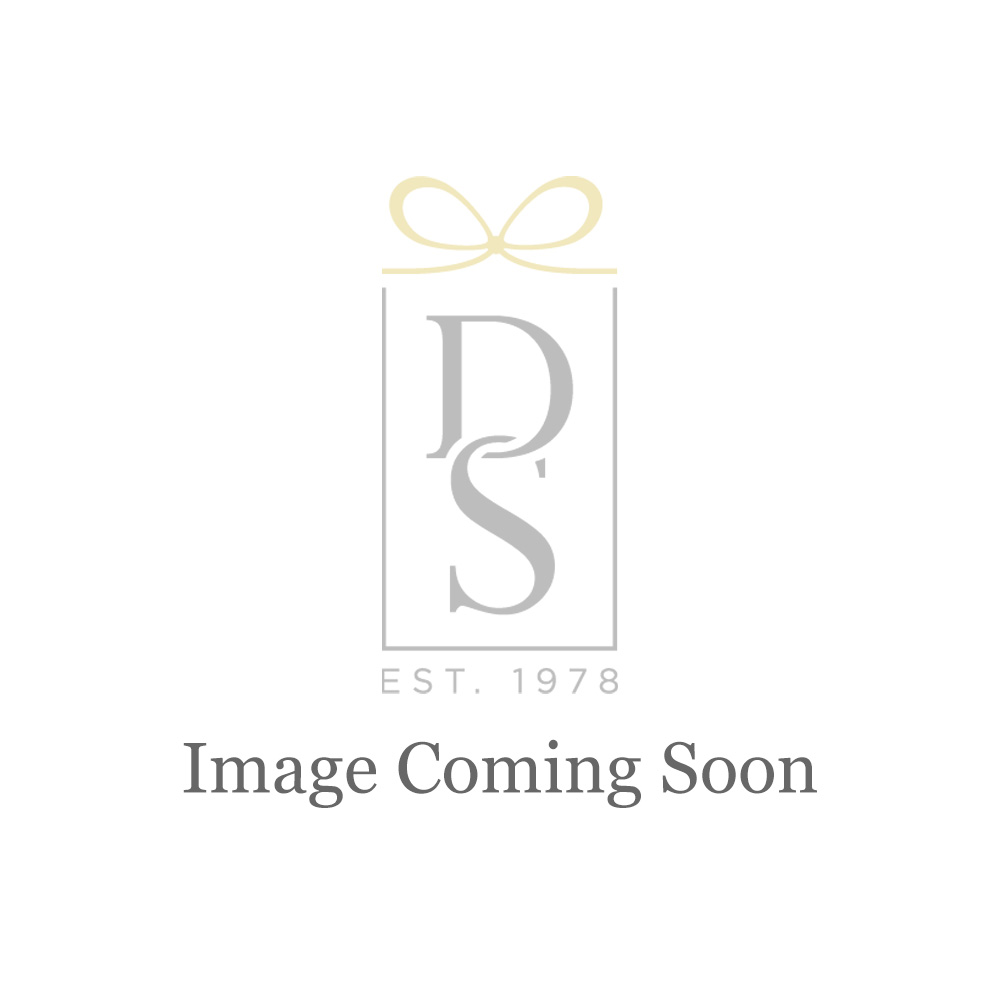 Swarovski Bella Heart Pierced Earrings, White, Rhodium Plated