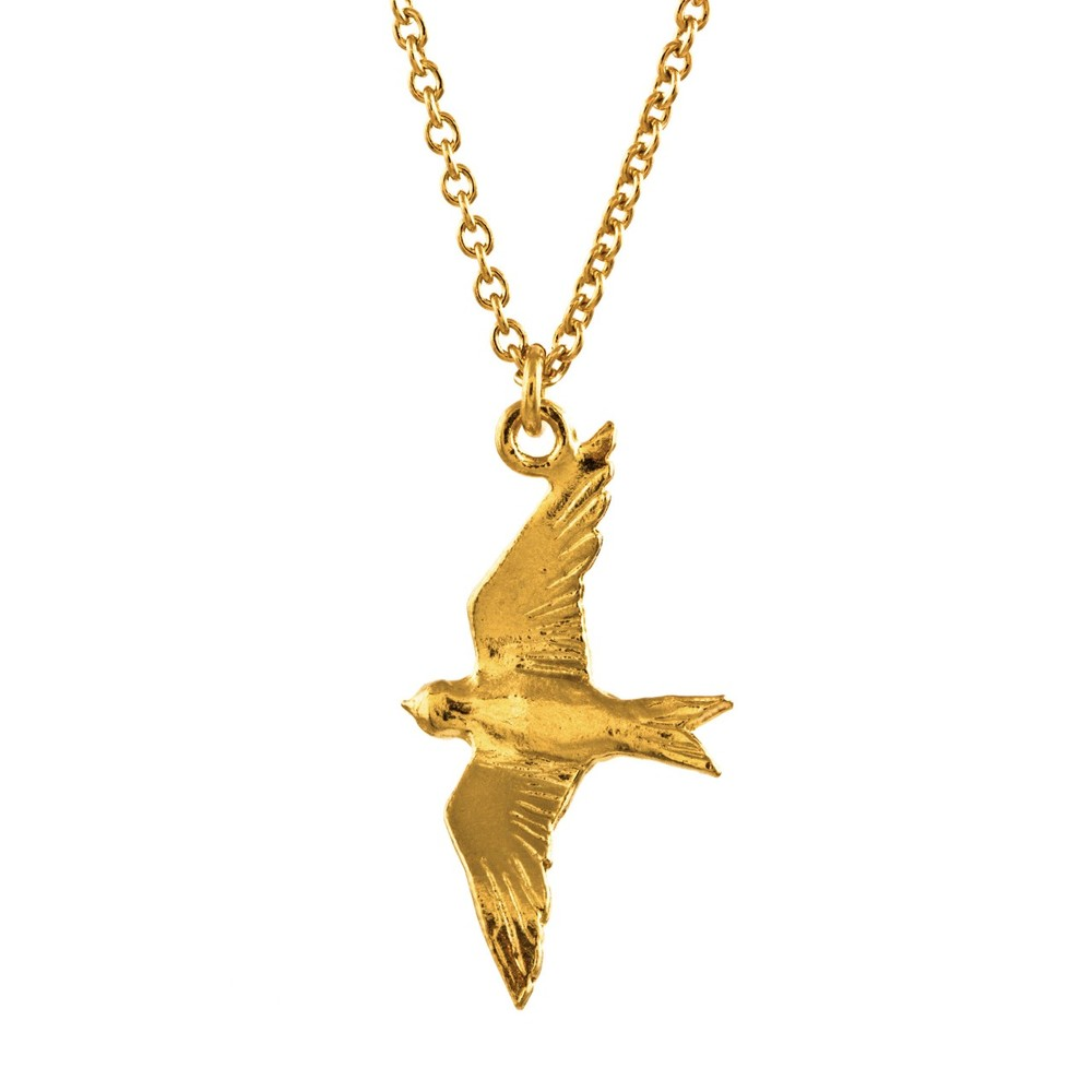 Alex Monroe Flying Swallow Gold Necklace | DN1/GP