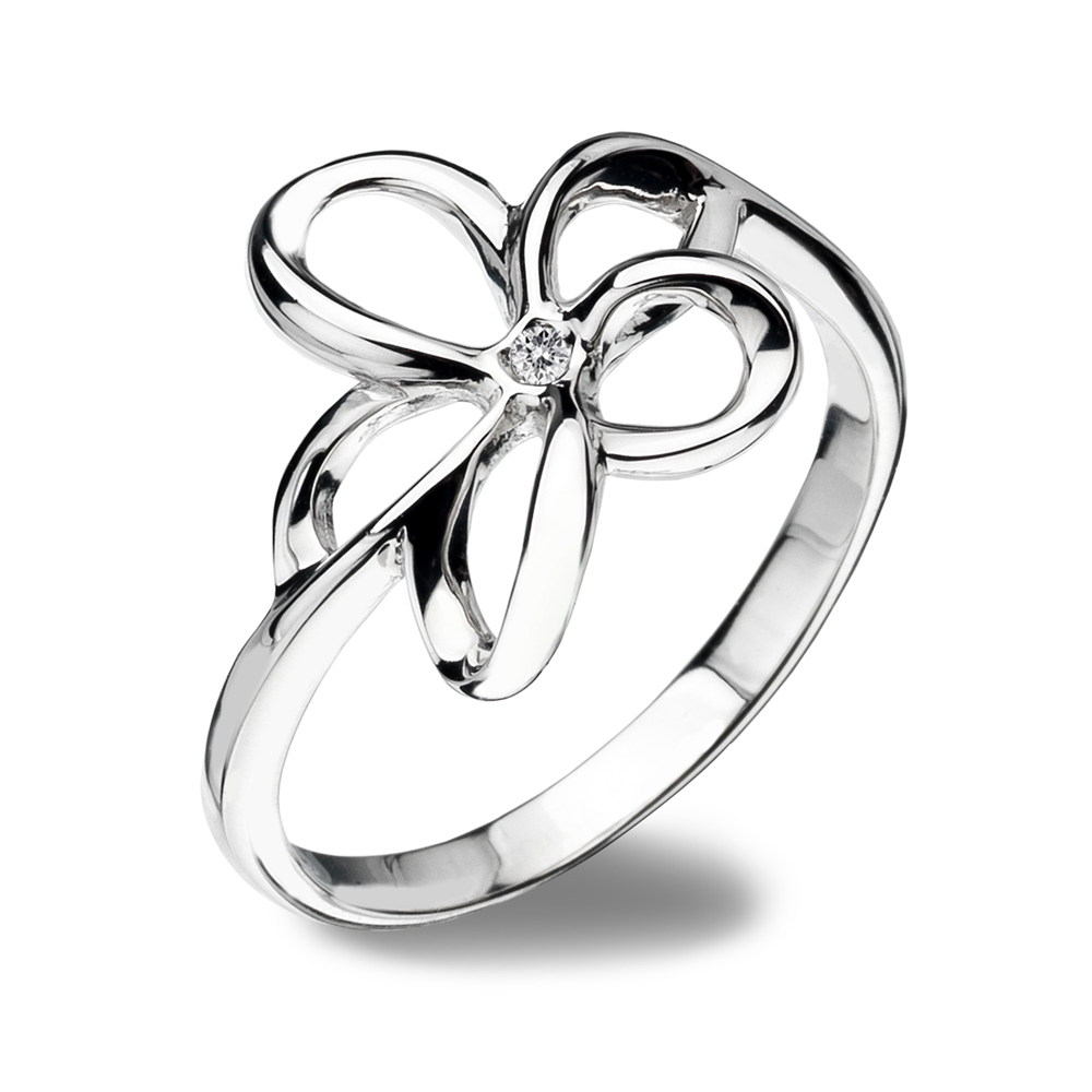 Image of Hot Diamonds Paradise Open Petal Ring, Size N | DR092