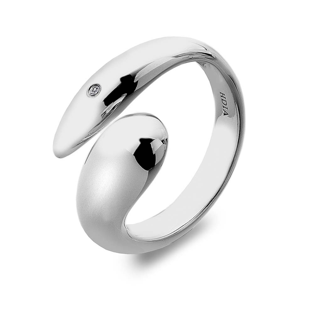 Hot Diamonds Mirage Silver Ring Size N | DR162