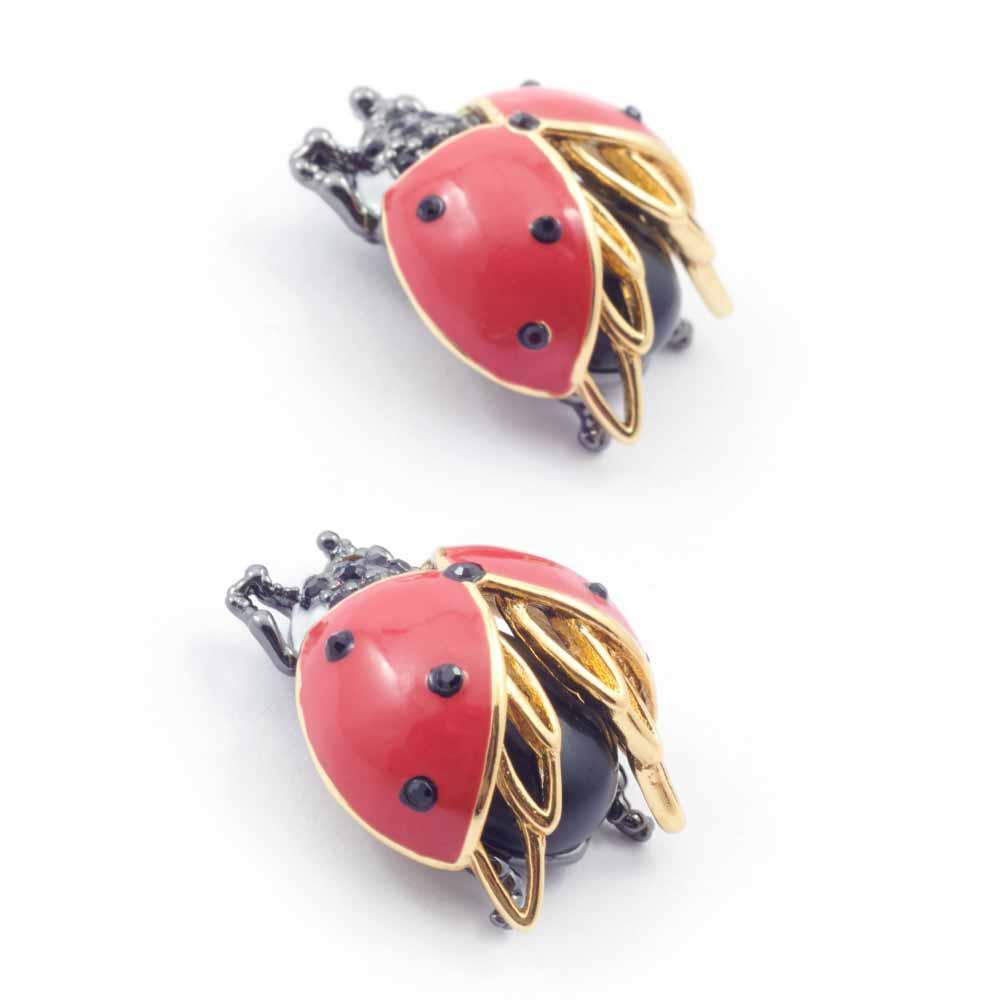 Bill Skinner Bejewelled Ladybird Stud Earrings