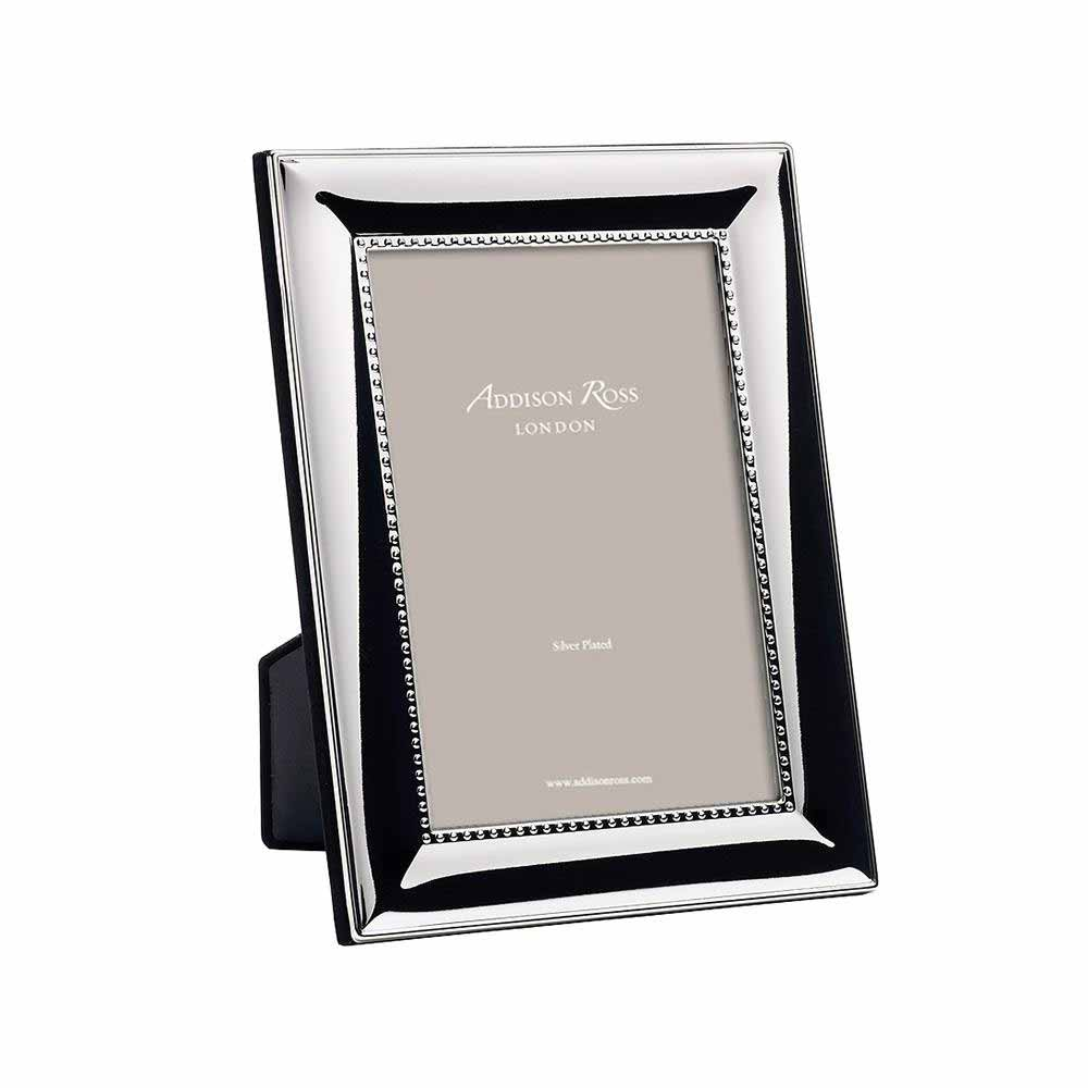 Addison Ross Beaded Silver Plated Photo Frame, 5 x 7