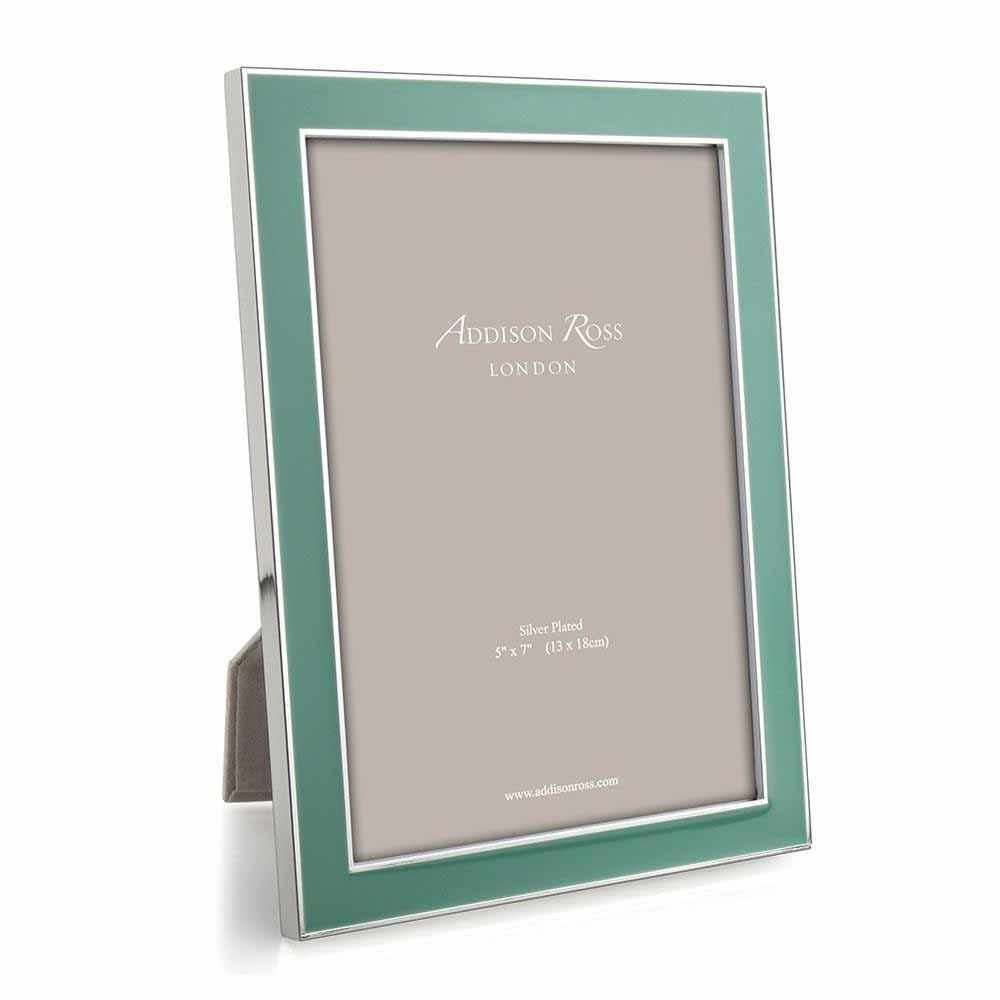 Addison Ross Duck Egg Enamel & Silver Frame, 5 x 7   FR0693