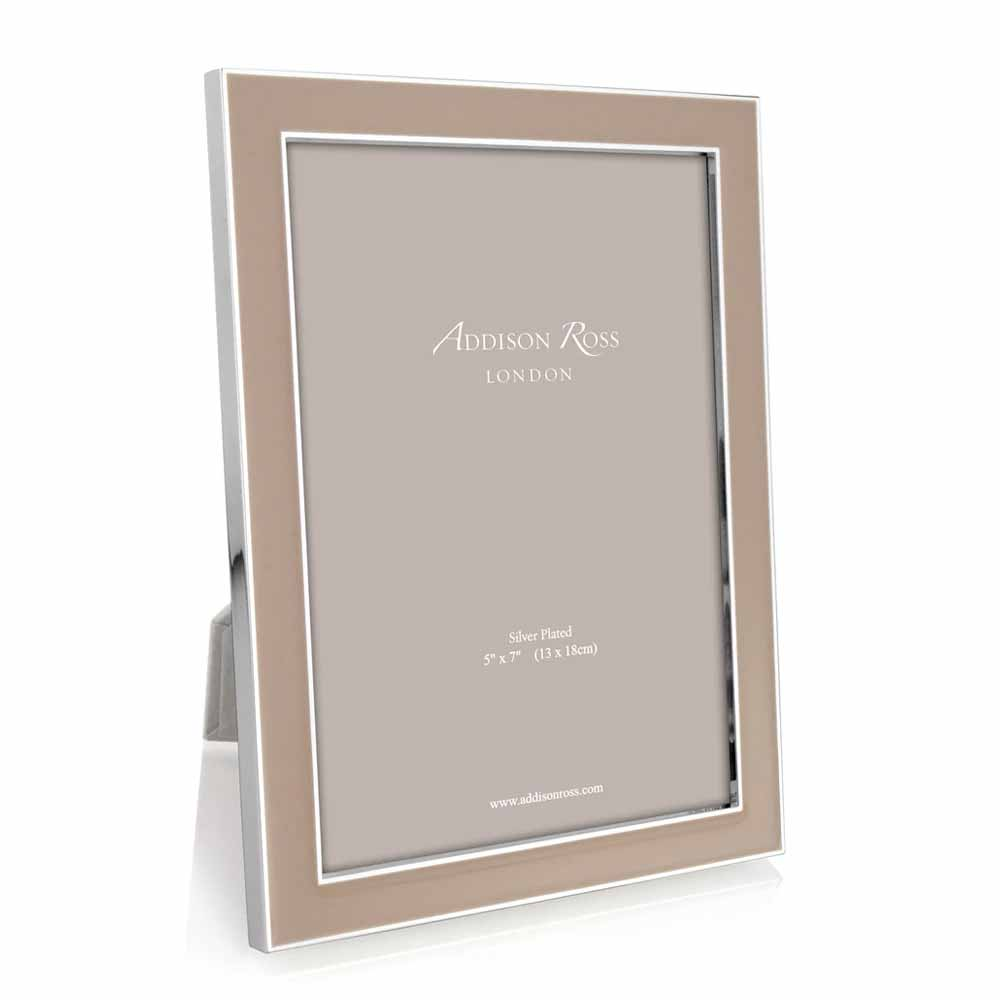 Addison Ross Cappuccino Enamel & Silver Frame, 5 x 7