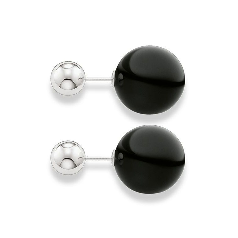 Thomas Sabo Glam & Soul Black & Silver Double Stud Earrings | H191602311