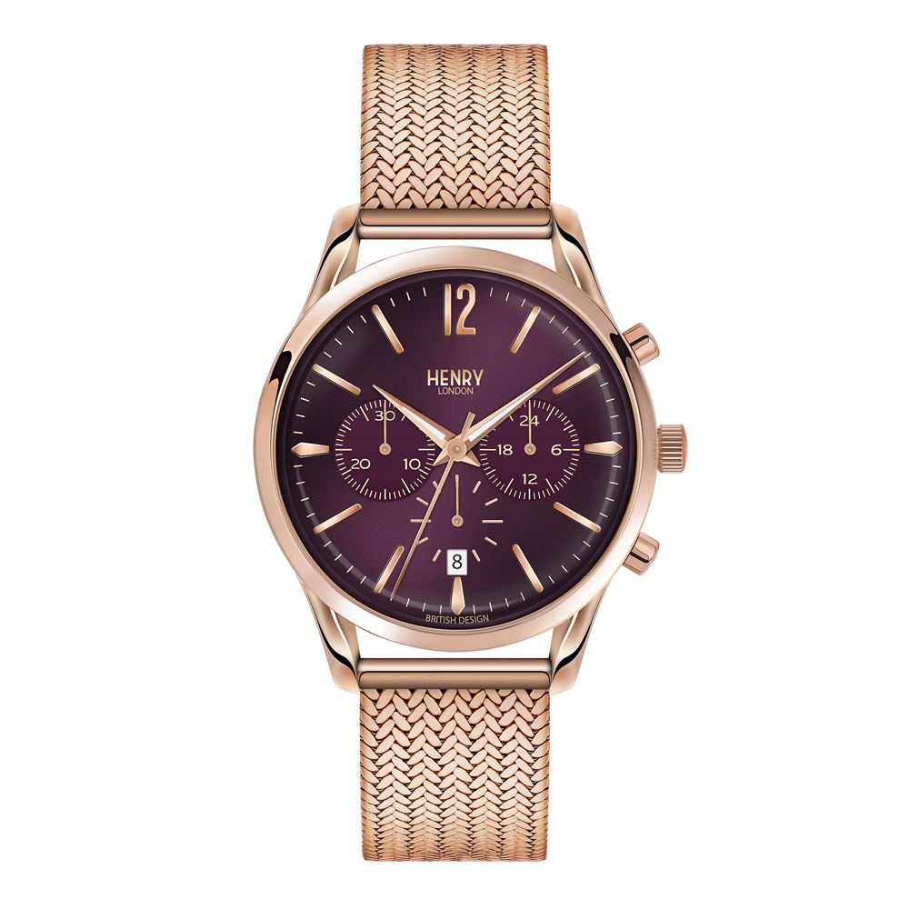 Henry London Unisex Hampstead Chronograph Bracelet Watch | HL39-CM-0088
