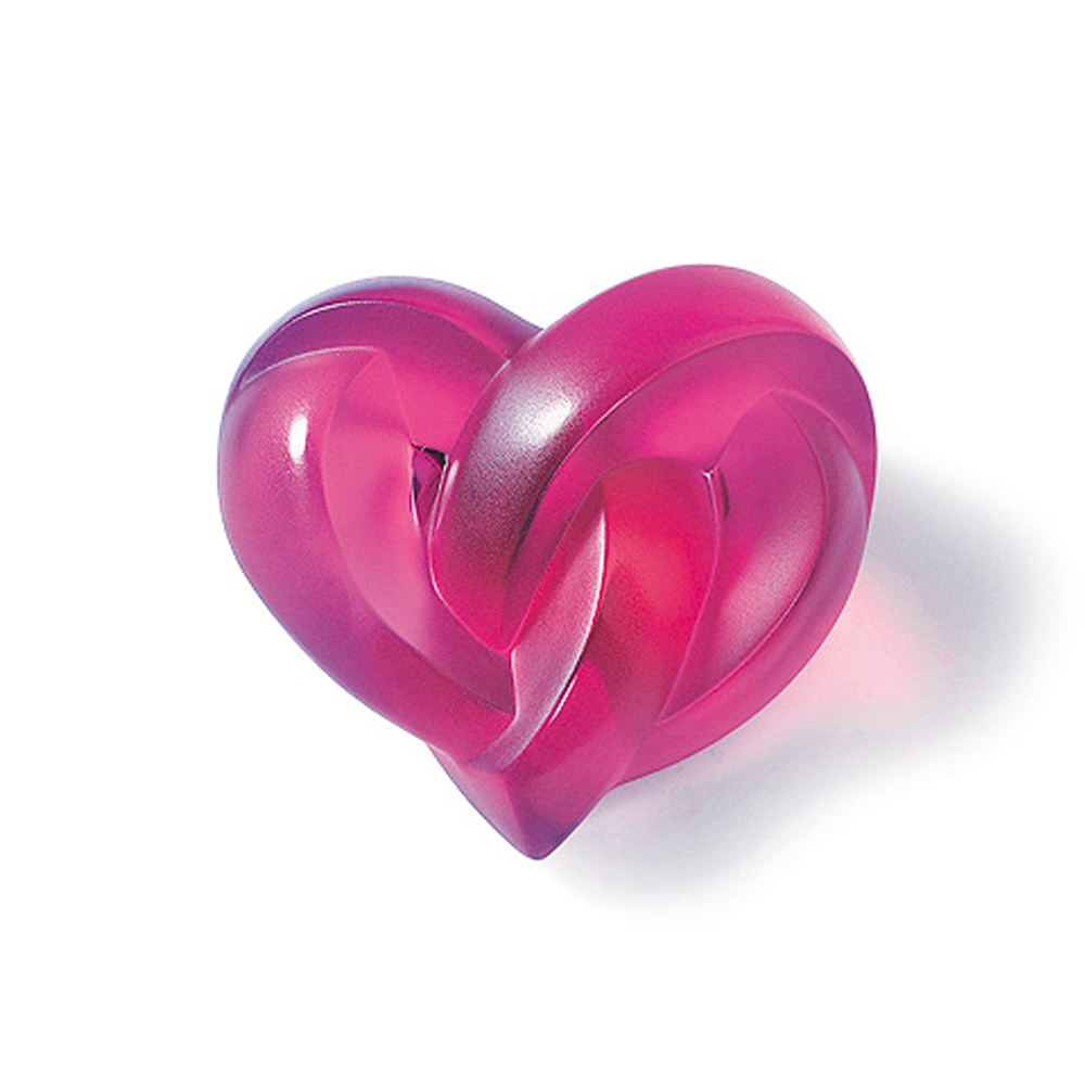 Lalique Heart Fuchsia Paperweight | 1184720