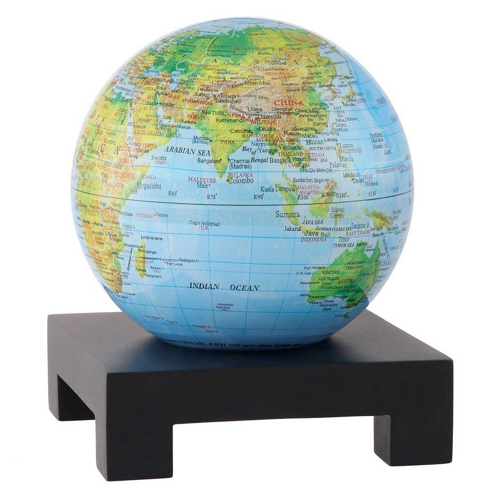 MOVA Blue with Relief Map Gloss Finish 4 5 Globe