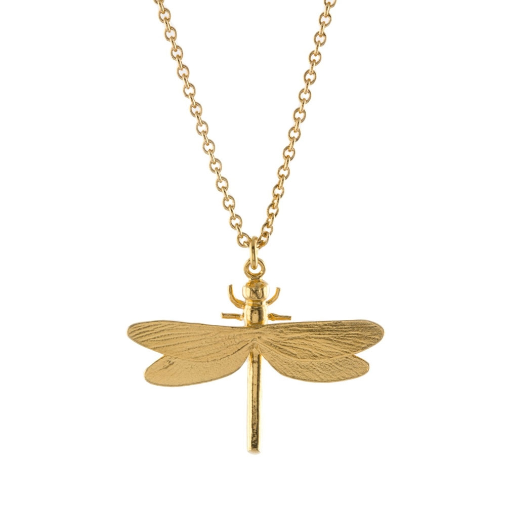 Alex Monroe Classic Dragonfly Gold Necklace | MGN10/GP