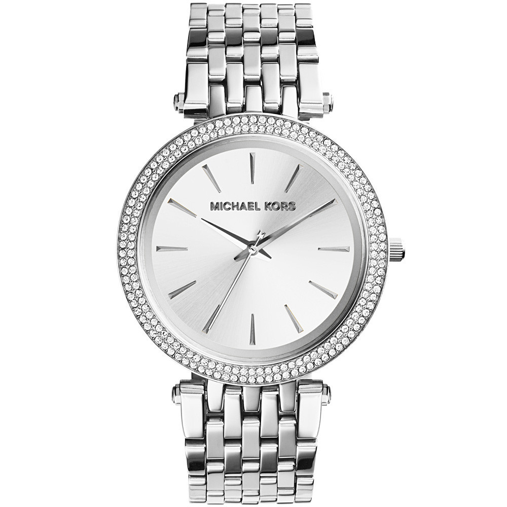 Michael Kors Darci Crystal Pave Bracelet Silver Ladies' Watch | MK3190