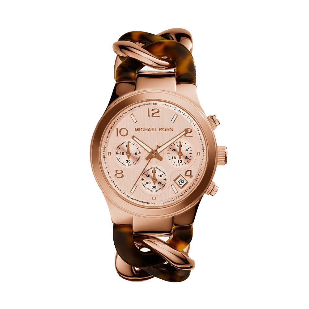 Michael Kors Runway Tortoiseshell Rose Gold Ladies' Watch | MK4269