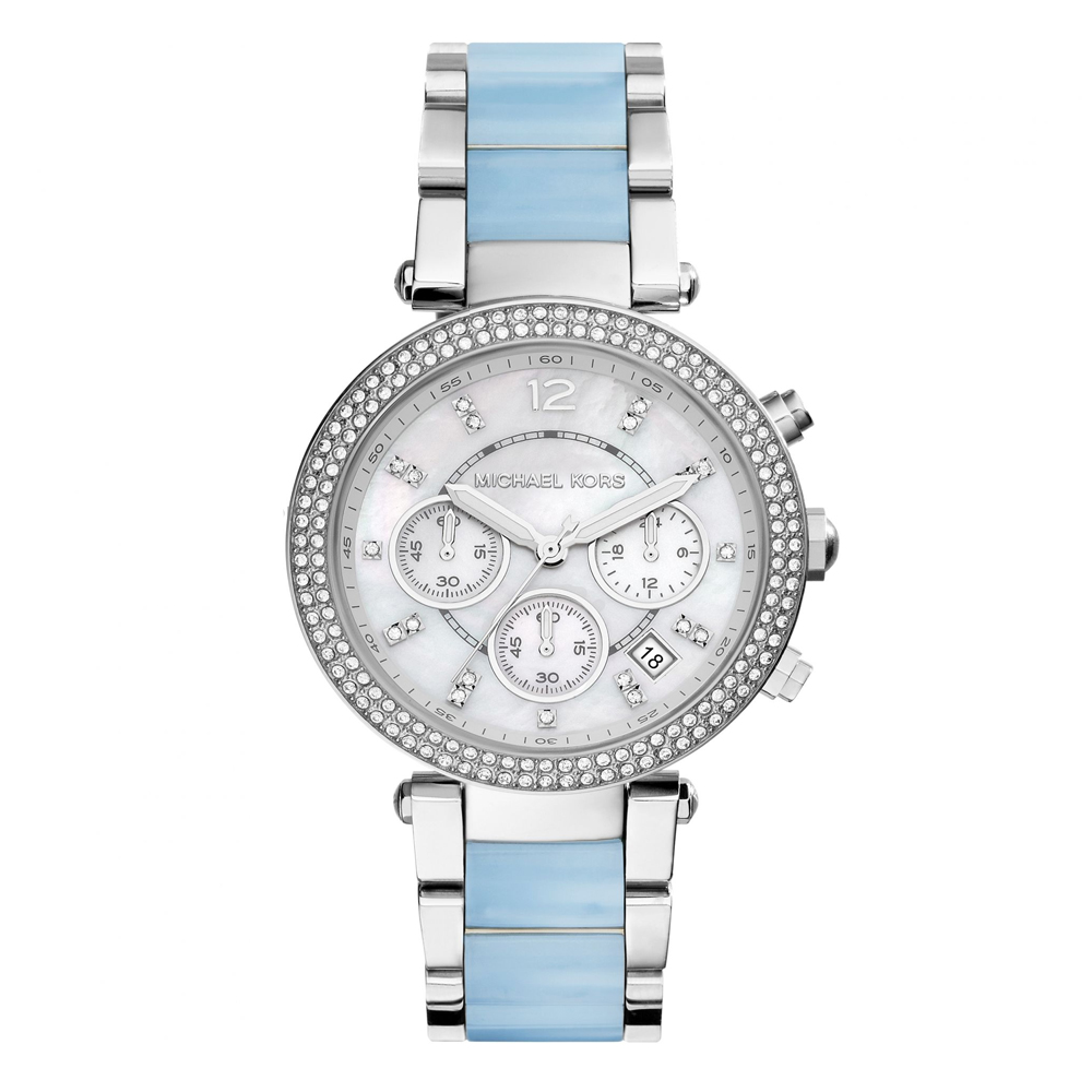 Michael Kors Parker Mother of Pearl Dial Chronograph Ladies Watch | MK6138