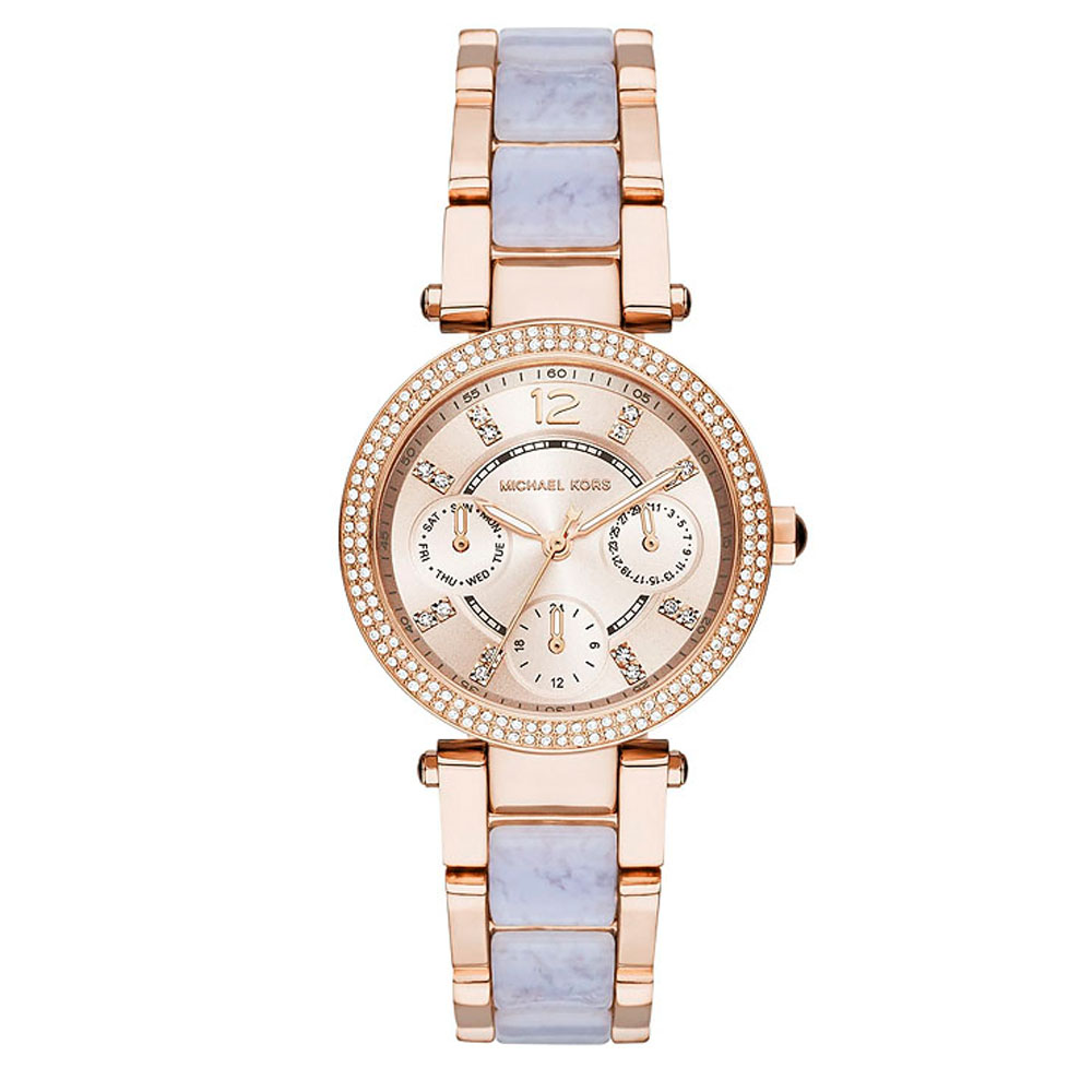Michael Kors Mini Parker Chronograph Rose Gold Ladies' Watch | MK6327