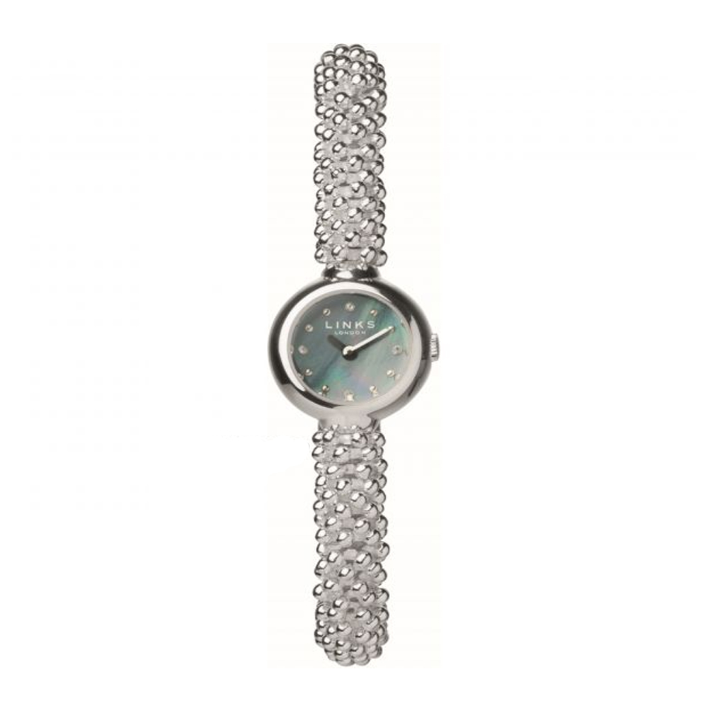 Links of London Effervescence Silver Mother of Pearl Stainless Steel Watch | 6060.0604